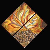 Burning Bush (Oil on Canvas Tetraptych)