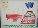 40 Acres Today (Watercolor on Canvas) by Jacquez Hill, 6th grade