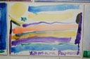 Rainbow (Watercolor on Canvas) by Xiomara Patterson, Age 6