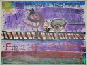 Free the Slaves (Watercolor on Canvas by Jacarria West, 6th grade