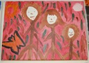 Family (Watercolor on Canvas) by Etta Johnson-Huff, Adult